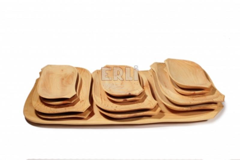 Sada táců dřevěná 13-dílná